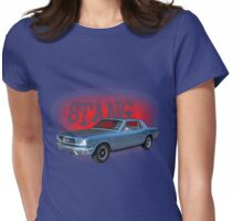 65 Mustang Coupe Generation One 1964-1973 Womens Fitted T-Shirt