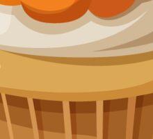 Halloween Pumpkin Cupcake Sticker