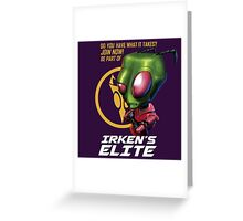 Invader Zim - Irken's Elite Greeting Card