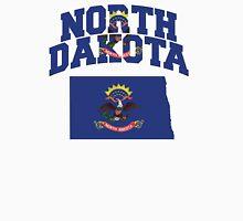 North Dakota Flag in North Dakota Map Unisex T-Shirt