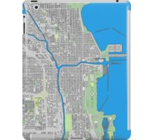 Chicago city center colorful iPad Case/Skin