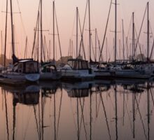 Shimmering Pinks - Silky Sunrise With Yachts Sticker