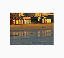 Beach huts at sunrise Unisex T-Shirt