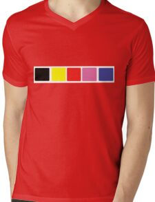 Power Rangers In Space Suit Chest Mens V-Neck T-Shirt