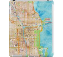Chicago city center map oily water color iPad Case/Skin