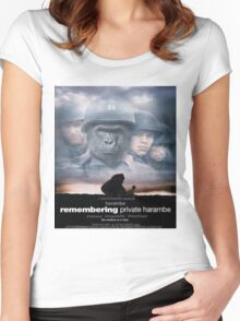 Saving Private Harambe  Women's Fitted Scoop T-Shirt