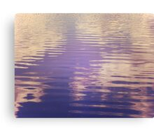 Water Relecting  the Sky Canvas Print