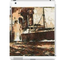 A digital painting of  R.M.S. Lusitania, hit by torpedos off Kinsale Head, Ireland 1915 iPad Case/Skin