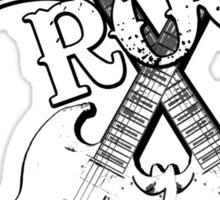 Guitar Rock Sticker