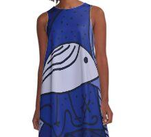Blue bird A-Line Dress