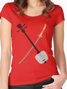 If You Must Blink, Do It Now. (Kubo and the Two Strings). Women's Fitted Scoop T-Shirt