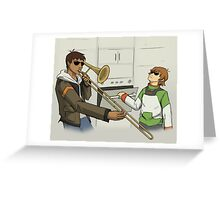 When Space Dad Isn't Home Greeting Card