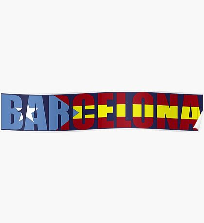 FC Barcelona Barca  Flag of Catalonia T-Shirts and Gifts  Poster