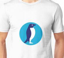 Adelie Penguin Circle Retro Unisex T-Shirt