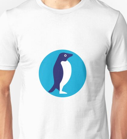 Adelie Penguin Circle Retro Unisex T-Shirt