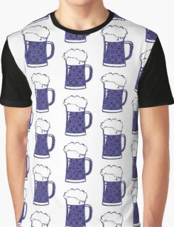 Purple,Black,Beer,Mug,Lace Graphic T-Shirt