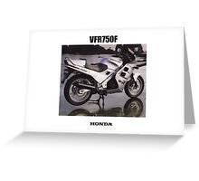 HONDA RC24 VFR750F TRIBUTE Greeting Card