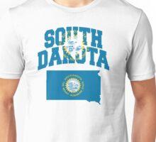South Dakota Flag in South Dakota Map Unisex T-Shirt