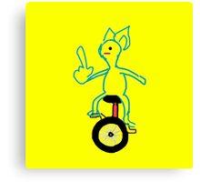 Unicycle Doggo Canvas Print