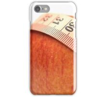 tape measure wrapped around an apple  iPhone Case/Skin