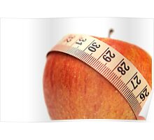 tape measure wrapped around an apple  Poster