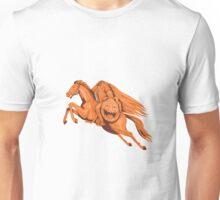 Headless Horseman Pumpkin Head Drawing Unisex T-Shirt