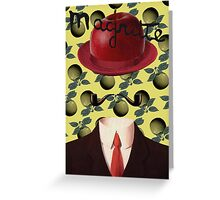 Tribute to MAGRITTE Greeting Card