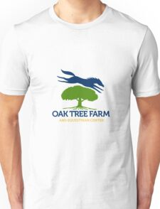 Horse Jumping Over Oak Tree Retro Unisex T-Shirt