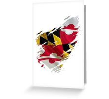 Maryland Flag Tearaway Greeting Card