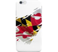 Maryland Flag Tearaway iPhone Case/Skin