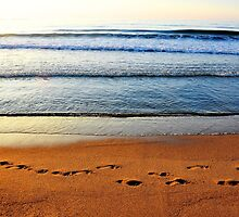 He walked alone.....footprints on the sand! by Poete100