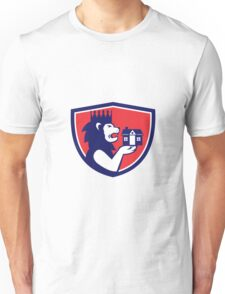 King Lion Holding House Crest Retro Unisex T-Shirt
