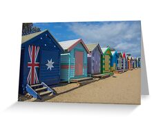Brighton Huts - Melbourne Greeting Card