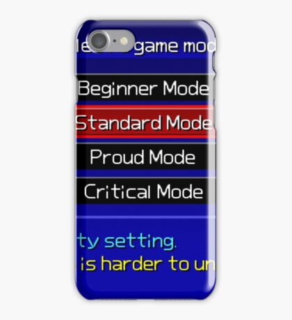 Kingdom Hearts Difficulty Select iPhone Case/Skin