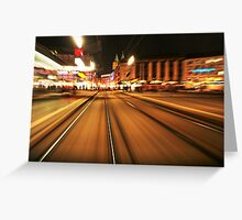 Speedy Night Stripes Greeting Card