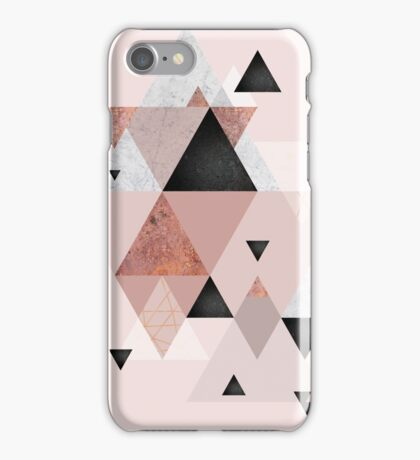 Geometric Compilation in Rose Gold and Blush iPhone Case/Skin