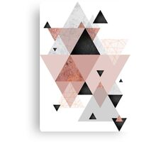 Geometric Compilation in Rose Gold and Blush Canvas Print