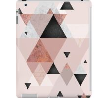 Geometric Compilation in Rose Gold and Blush iPad Case/Skin