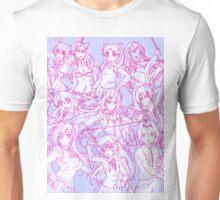 Colored Anime Main Heroine Poster Unisex T-Shirt