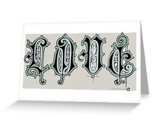 Love Cute Decorative Text Typography Drawing Greeting Card