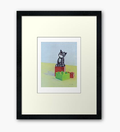 Duplo cat Framed Print