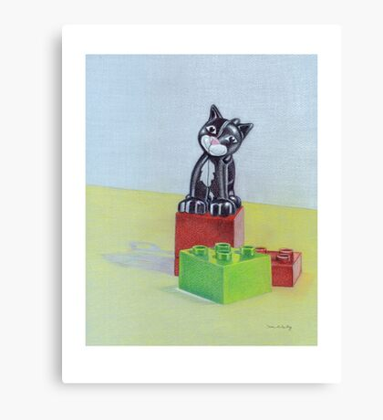 Duplo cat Canvas Print