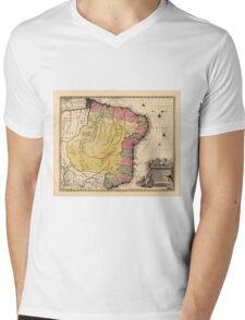 Map Of Brazil 1730 Mens V-Neck T-Shirt