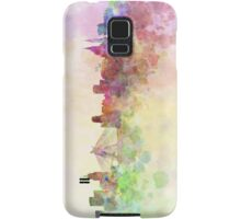 Sao Paulo skyline in watercolor background Samsung Galaxy Case/Skin