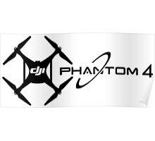 UAV DJI Drone professional phantom 4 Pilot black Poster