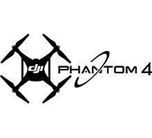 UAV DJI Drone professional phantom 4 Pilot black Photographic Print