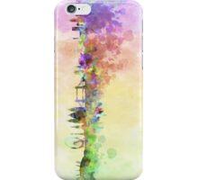 London skyline in watercolor background iPhone Case/Skin