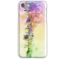 London skyline in watercolor background iPhone Case/Skin