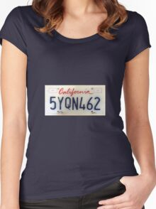 California licence Plate Women's Fitted Scoop T-Shirt