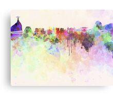Rio de Janeiro skyline in watercolor background Metal Print